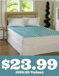 kohls 23 99 the big one memory foam mattress topper 100 value