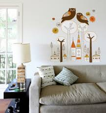 Urban Living Room Design Wall Decoration With Decal