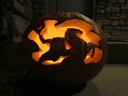 Headless Horseman Pumpkin Carving Stencil by 20 Incredible Carved Pumpkins Totally Nailed It