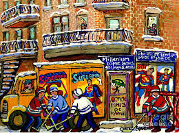 Montreal Comic Book Shop Librarie Millenium Hockey Art Superman