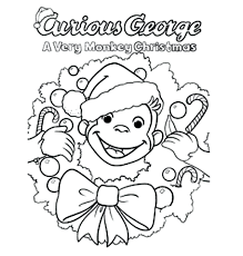 Curious George Coloring Pages Photos Birthday Print Free Printable Full Size
