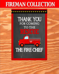 FIREMAN Birthday - Fire Fighter INVITATIONS - Fireman Party- Fire ...