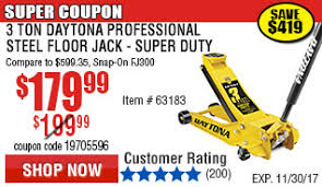 daytona professional super duty steel jack