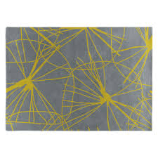 STARFLORAL Large Yellow And Grey Handtufted Wool Rug 170 X 240cm