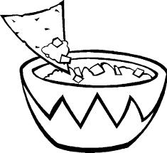 Food Printable Coloring Page Kids