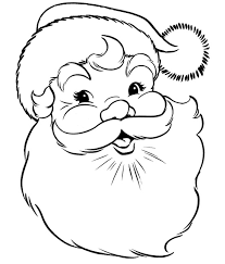 Detail The Old Happy Christmas Santa Hat Coloring Page