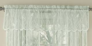 Window Art Tier Curtains And Valances by Sweet Home Collection Knit Lace Song Bird Motif Curtain Valance