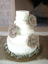 Country Wedding Cake Burlap Cakes For Rustic Weddings Table And