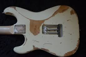 Fender Squier Olympic White Strat Heavy Body Relic For Sale