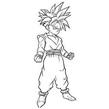 Child Gohan Goku Coloring Pages Of Dragon Ball Z