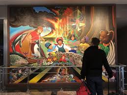 denver international airport murals pictures what s up with the creepy apocalyptic paintings in denver
