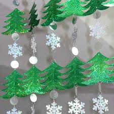 10m DIY Sequined Curtains Christmas Drop Ornaments Festive Decorations Supplies Tree Snowflakes Sequins
