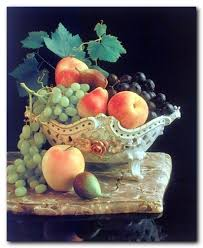 Grape Decor For Kitchen by Amazon Com Fruit Grapes U0026 Apple In Bowl Still Life Kitchen Wall