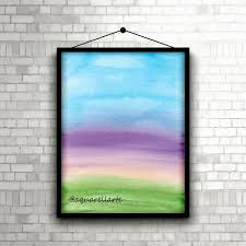 Watercolor Prints Wall Art Nursery Wall Art Sky Painting Calming Colors Wall Hanging Relaxing Painting Zen Decor Living Room Decor