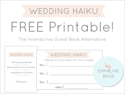 Wedding Haiku Cards Sign A Guest Book Alternative Is Fun And Interactive Way To Engage Guests Three Lined Poem Written In
