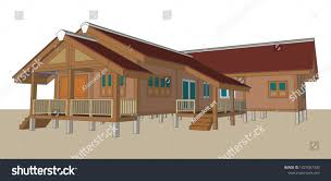 100 Home Design In Thailand Asian House Vector Illustration