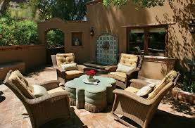 Spanish Mexican Colonial Throughout Outdoor Furniture Decor 3