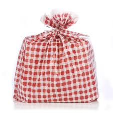 Amazoncom Reusable Red Toile Plastic Gift Wrap Bags Reuse As