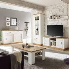 lomadox wohnzimmer set osimo 61 mega spar set 4 ilg im landhausstil in pinie weiß wotaneiche gesamtmaß b h t 231 204 46 cm kaufen