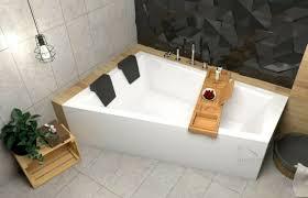 große badewanne wanne für zwei personen ablage bambus