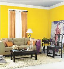 Yellow Black And Red Living Room Ideas by Yellow Living Room Interior Wall Paint Color With Grey Sofa And