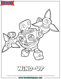Skylanders Swap Force Tech Wind Up Coloring Page