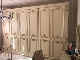 schrank chippendale barock creme beige schlafzimmerschrank