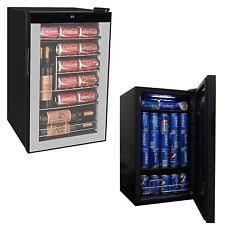Beverage Mini Fridge Refrigerator Wine Beer Soda Pop Cooler Door Glass Display
