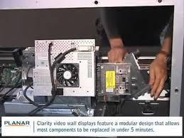 planar rear projection video walls replacing l ballast youtube