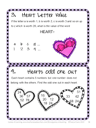 Halloween Brain Teasers Math by Fun Games 4 Learning Valentine U0027s Fun Freebies