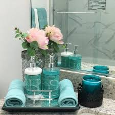 badezimmer deko moderne bader blaue accessoires kerzen
