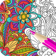 Adult Coloring BookGarden Apps Apk Free Download For Android PC Windows