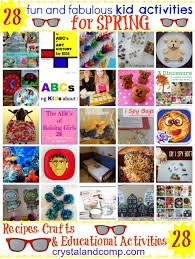 28 Fun Spring Kid Activities From Crystal Co Readers