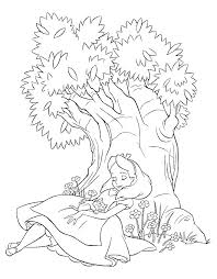 Free Alice In Wonderland Coloring Page Pages 14 Printable