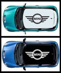 100 Mini Truck Stickers 1 Pcs WINGS MINI COOPER LOGO Vinyl Roof Decals Graphic For