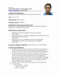 Sample Resume Malaysia Format Fresh Good Example In