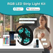 شريط إضاءة led يعمل بالواي فاي شريط مرن بخيوط بطول 5 متر 10 متر 15 متر 20 متر 12 فولت 5050 متر شريط مرن بأسلاك rgb لـ home wifi