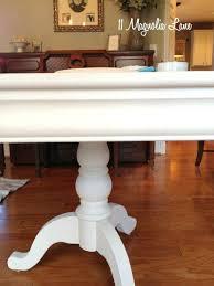 Dining Room Table With White Chalk Paint Furniture Makeovers My Chairs Painted