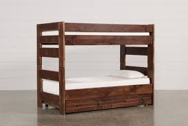 Sedona Twin Over Twin Bunk Bed With Trundle With Mattress Living
