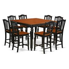 East West Furniture CHEL9-BLK-W Hillsdale Fniture Dynamic Designs Brown Cherry Pub Table With Two Jefferson Barstools Everdon 4175 In L Dark Products Dc192 5 Piece Set Ladder Back Chairs By Lifestyle At Fair North Carolina 55 White Bistro Sets 3 Pc Seats 2 Industrial Distressed Finish Chain Link Bar Liberty And Game Room Opt 10 Dakota Light Palm Springs 59 Off Bobs Discount Enormous Counter Tables Ambassador Rich 42inch High Stools