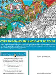 Creative Haven Insanely Intricate Entangled Landscapes Colouring Book