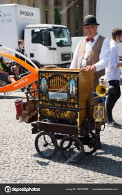 100 Stuber Trucks Man With Barrel Organ In City On Sunny Day Stock Editorial Photo