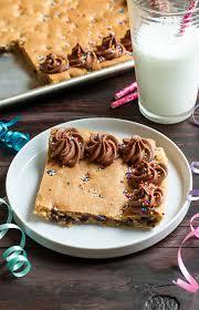 Sheet Pan Cookie Cake Recipe Peas And Crayons