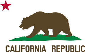 Flag Of California Bear Star Plot Title Solid Clipart