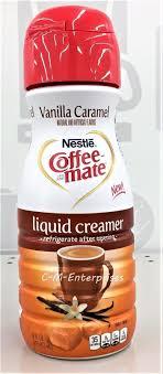 Nestle Coffee Mate Vanilla Caramel Liquid Creamer Pantry Pack 16 Oz