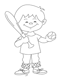 Baseball Coloring Page For Kids