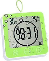 baldr wasserdichte badezimmer wanduhr thermometer hygrometer timer mit saugnapf grün