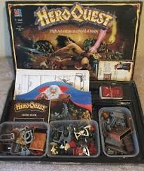 Image Is Loading HERO QUEST Vintage 1980 S Board Game Unpainted