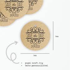 Tag Kraft Save The Date 5cm
