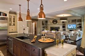 copper light fixtures kitchen traditional with pendant